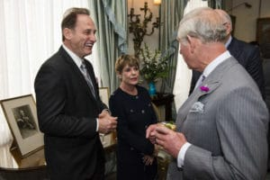 Albert and Mitsie Scaglione with Prince Charles