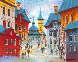 Anatole Krasnyansky Prague's Icy Afternoon