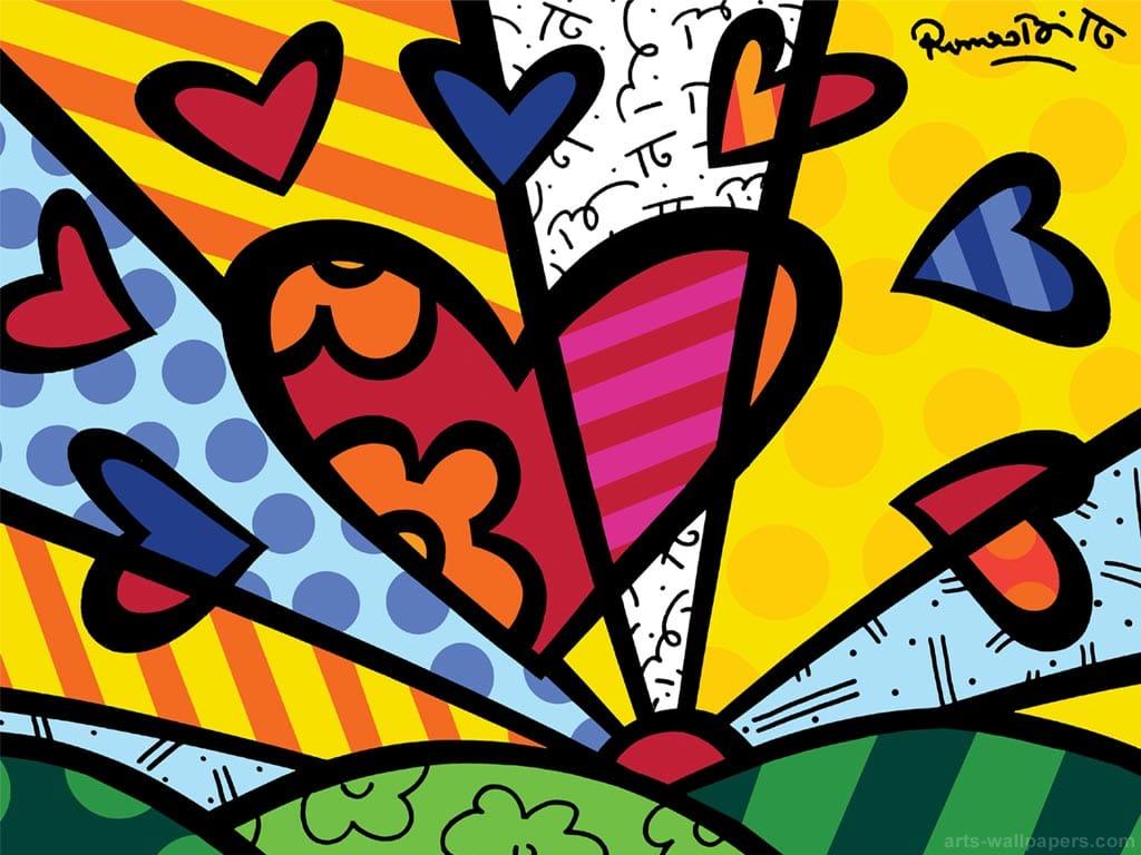 Romero Britto Painting